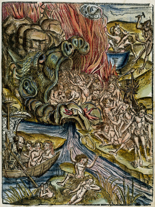 Charon, the ferryman of the underworld, in Hell, 1535.
