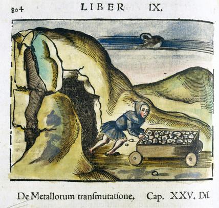 Mining for metal, 1535.