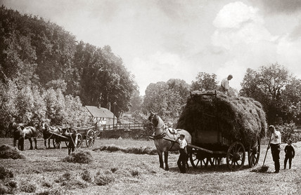'Bringing Home the Harvest', late 19th century.