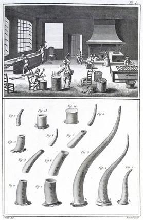 Horn workshop, 1751-1765.