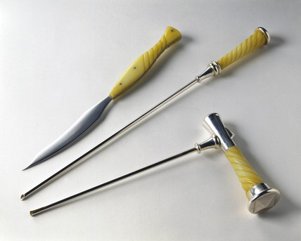 Surgical instrument film props, 2001.