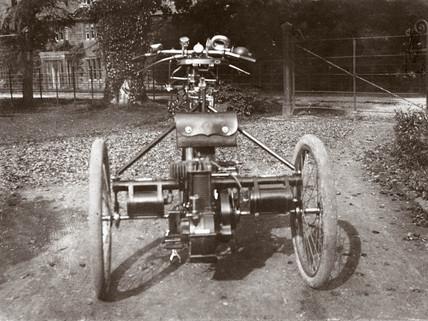 C S Rolls' de Dion tricycle, 1897.