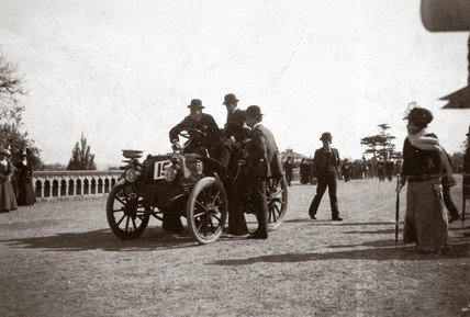 C S Rolls' 8 hp Panhard motor car at the Crystal Palace control test, 1908.
