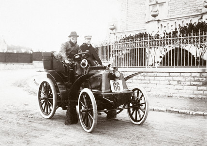 C S Rolls winning the tourist clas of the Bordeaux-Biarritz race, 1899.
