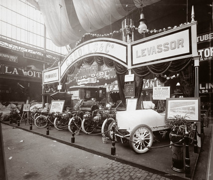 Charles S Rolls & Co's stand at a trade fair, Agricultural Hall, London, 1903.