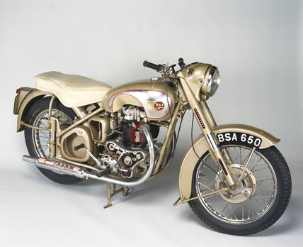 BSA 'Golden Flash' motorcycle, 1953.