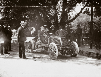 C S Rolls in his 80 hp Mors Racer at the two mile speed trial, Cork, Ireland, 1903.
