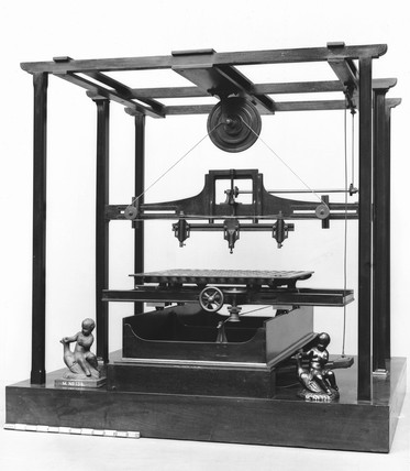 Jordan's wood carving machine, 1845. Model