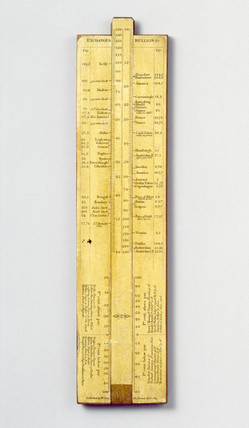 Slide rule, 1815. Made by W Cary. Slide rul