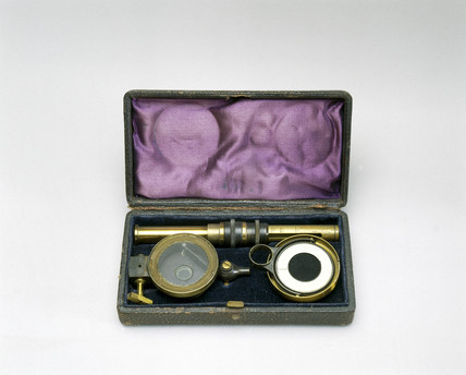 Aitken's pocket dust counter, 1890.