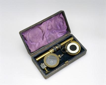 Aitken's pocket dust counter, 1890.