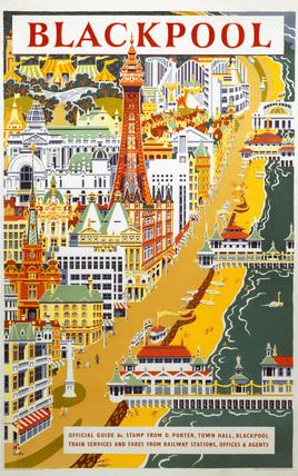 'Blackpool', BR (LMR) poster, 1955.