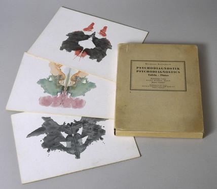 Set of ten Rorschach inkblot tests, 1921.