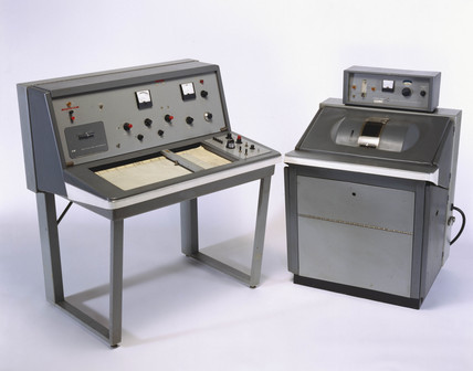 Varian A 60 nuclear magnetic resonance  spectrometer, c 1965.