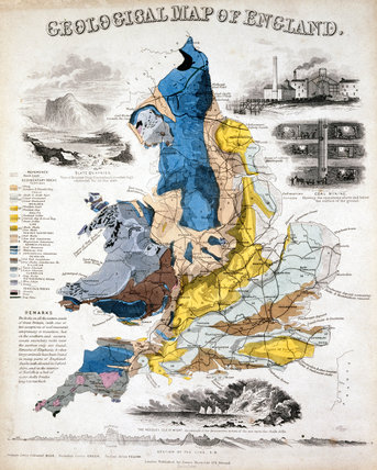 'Geological Map of England', 1849.