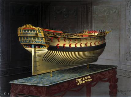 HMS 'Portland', 1773-1775.