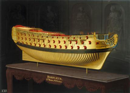 HMS 'Barfleur', 1773-1775.