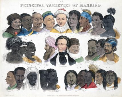 'Principal Varieties of Mankind', 3 May 1850.