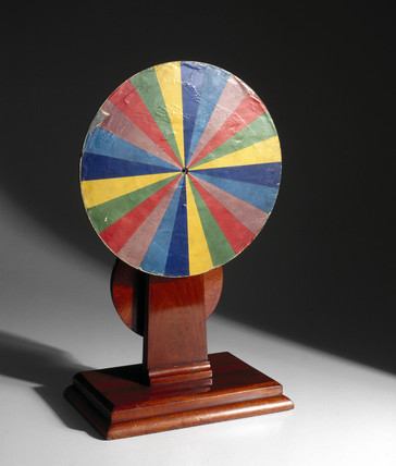 Newton's colour disc apparatus, late 19th century.