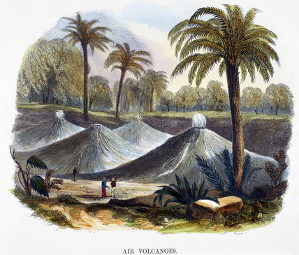 'Air volcanoes', near Carthagena, Columbia, 1849.