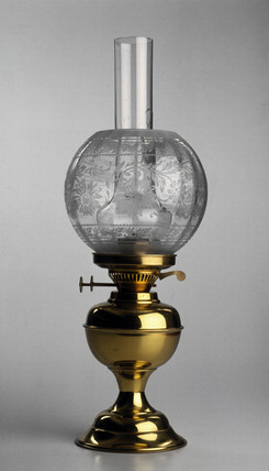 Paraffin lamp, late 19th century.