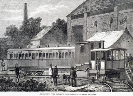 'Experiments with Fairlie's steam carriage for short distances', 1869.