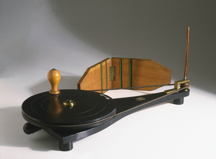 Apparatus used to show the link between friction and heat, 19th century.