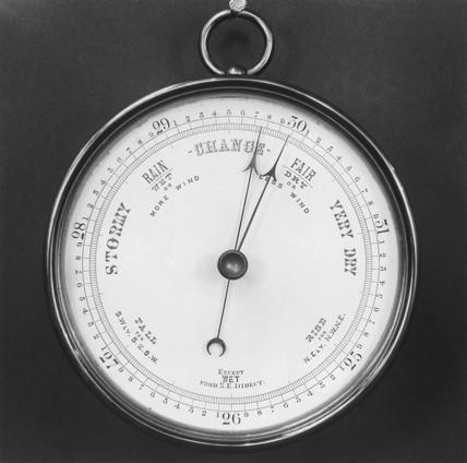 Aneroid barometer, 1875.