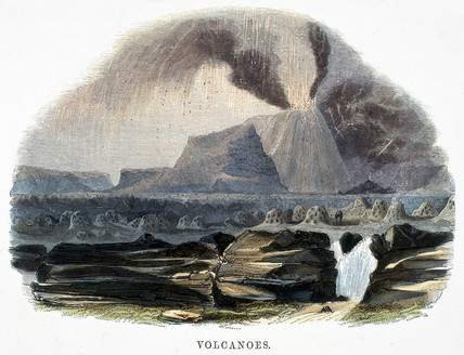 'Volcanoes', 1849.