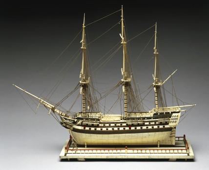 80 gun ship flying a Rusian Ensign, c 1800.