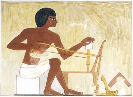 Bow drill, Egypt, c 1480 BC.