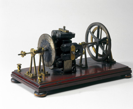 Wheatstone eccentric disc type electromagnetic engine, 1841