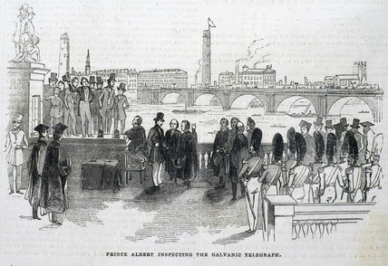 'Prince Albert Inspecting the Galvanic Telegraph', London, 1843.
