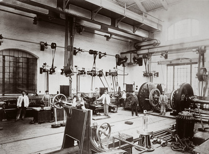 The Midland Railway's workshop, Northamptonshire, 1890s.