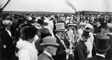 The opening of GCR's Immingham Dock, Lincolnshire, 22 July 1912.