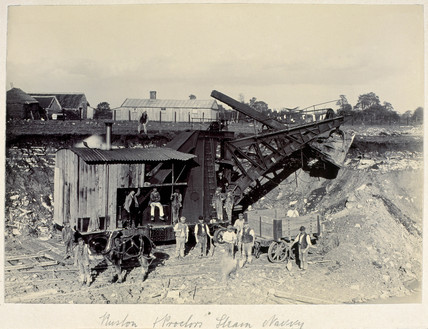 Building the main line between Wootton Basett, Wiltshire, and Bristol, 1899.