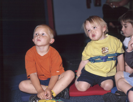 Children at the 'Dragon Tails and Children's Voices' event, 31 May 2001.