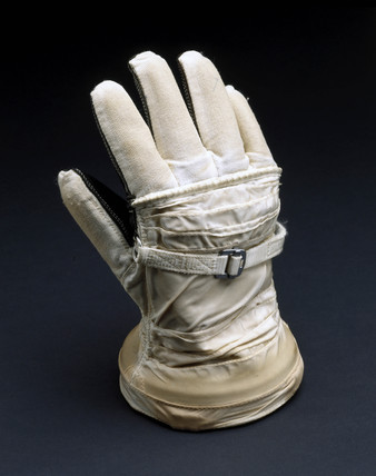 Soviet cosmonaut's glove, 1987.