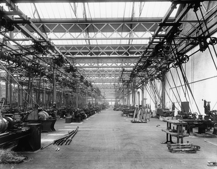 Machine shop at Eastleigh Locomotive Works,