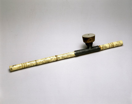 Ivory opium pipe, Chinese, 19th century.