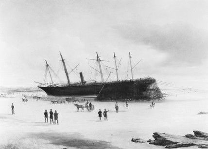 s 'Great Britain' ashore in Dundrum Bay, Ireland, 1846.