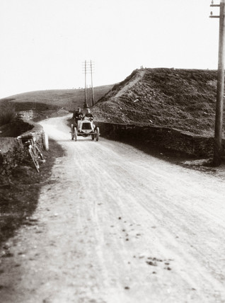 'Coming down Shapfell on the 1000 Mile Trial', Cumbria, 1900.
