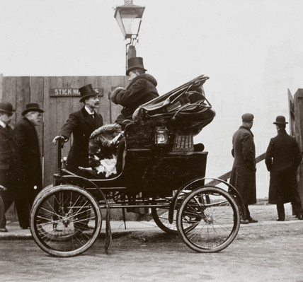 C S Rolls' 'Locomobile' motor car, 1901.