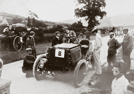 50 hp Napier car at a motoring event, 1902.