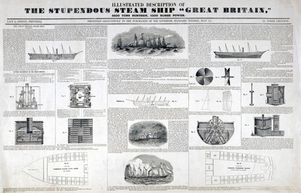 'The Stupendous Steam Ship 'Great Britain'', 1845.