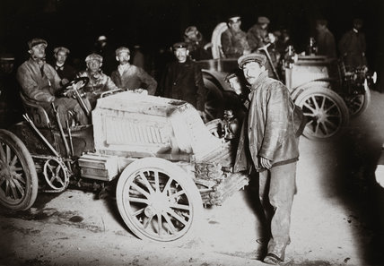 C S Rolls' car at the Paris-Berlin Trial, 1901.