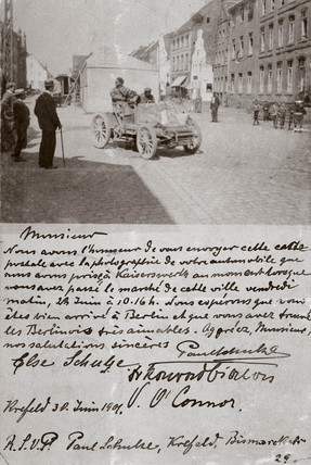 Batefield Control, the Paris-Berlin race, 1901.