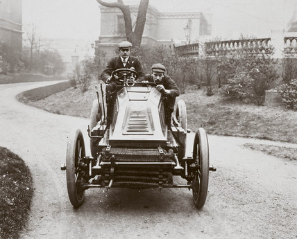 C S Rolls driving his 60 hp Mors motor car, 1902.