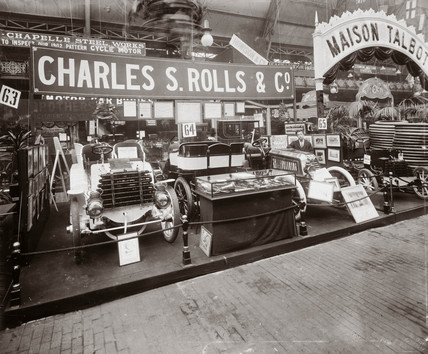 C S Rolls' first exhibition, Agricultural Hall, London, 1902.