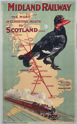 Midland Railway - The Most Interesting Route to Scotland', MR poster, 1907